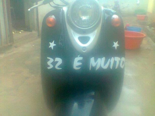 A moto apreendida