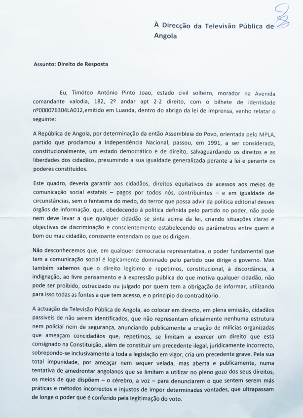 Direito de Resposta TPA 01