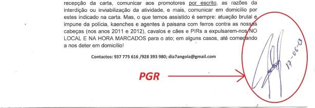 PGR assinatura