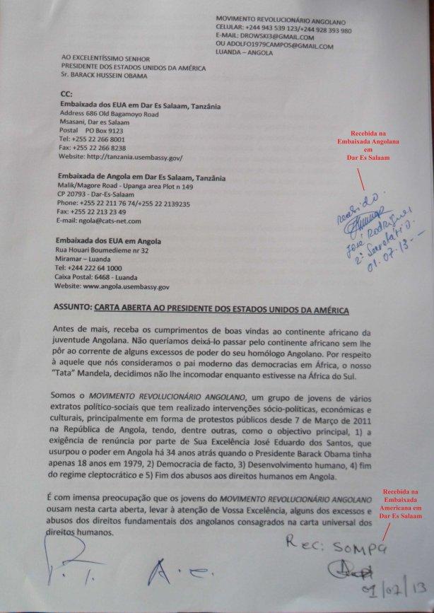 Juventude Angolana Carta Aberta a Obama-1