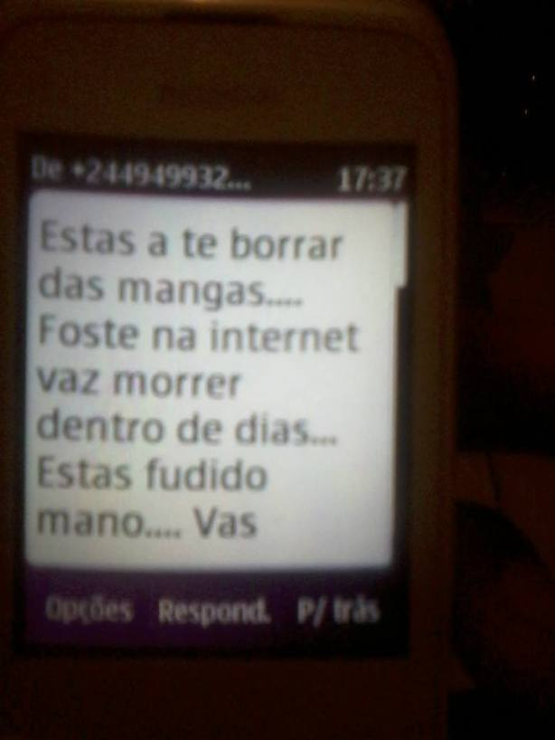 Manuel das Mangas Ameaça SMS 01