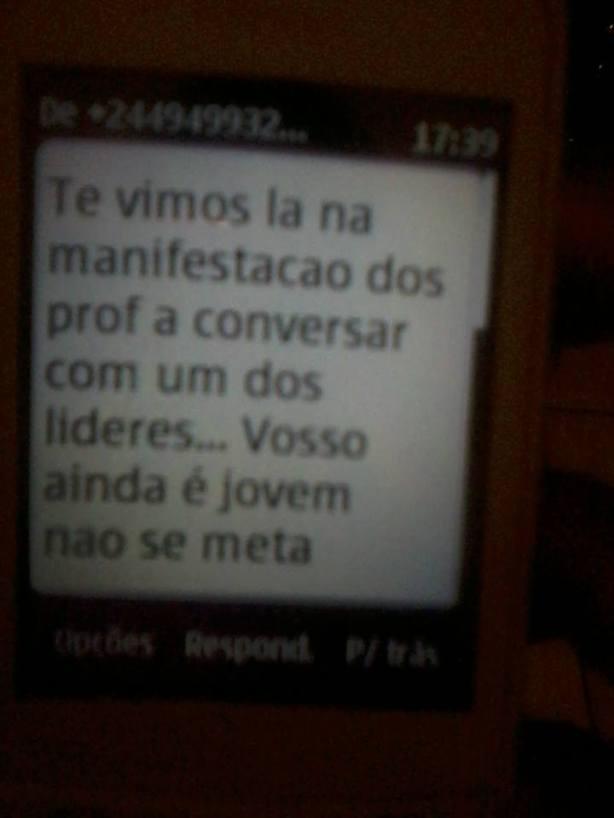 Manuel das Mangas Ameaça SMS 04
