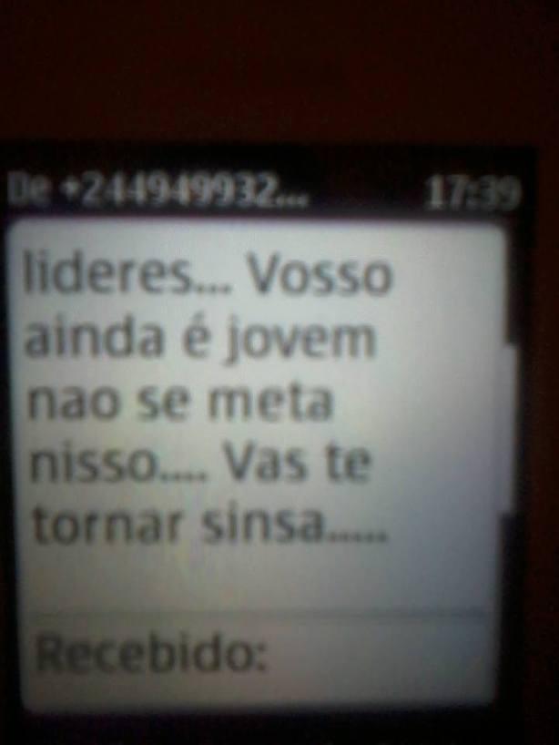 Manuel das Mangas Ameaça SMS 05