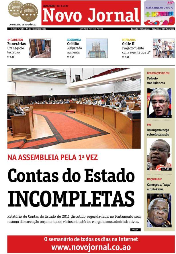 Novo Jornal 302 - CAPA