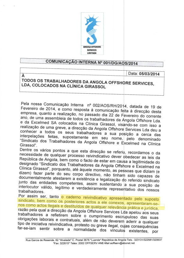 Clinica Girassol AMEAÇA Excelmed 01