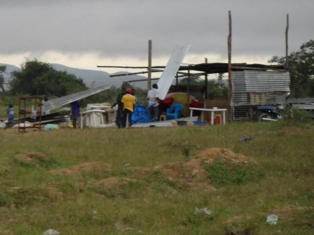 Tchavola depois das demolições. Foto da Omunga