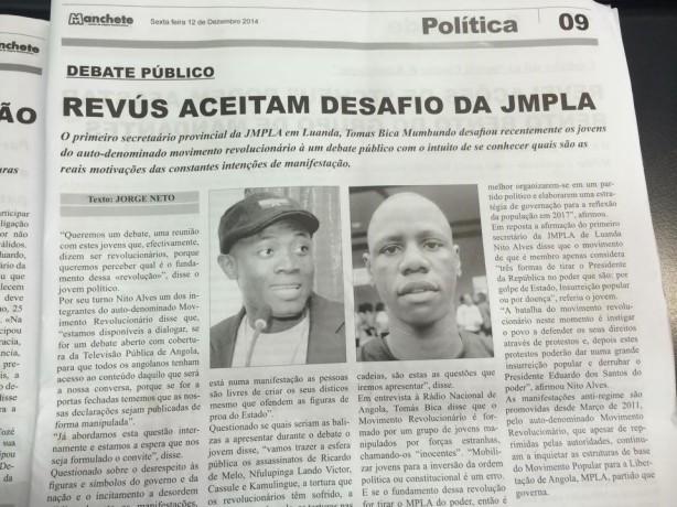 Pág. 9 do Semanário Manchete, contendo a entrevista à Nito Alves