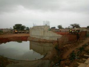 Obras para ponte definitiva