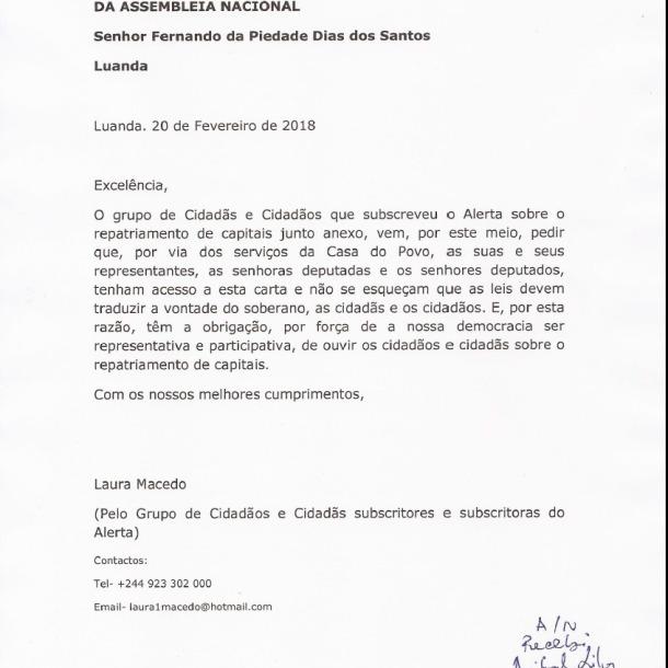 Petição AN Repatriamento pg 00